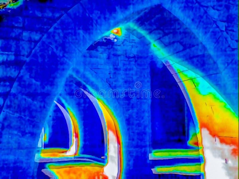 Thermisch beeld van ru?nes royalty-vrije stock fotografie