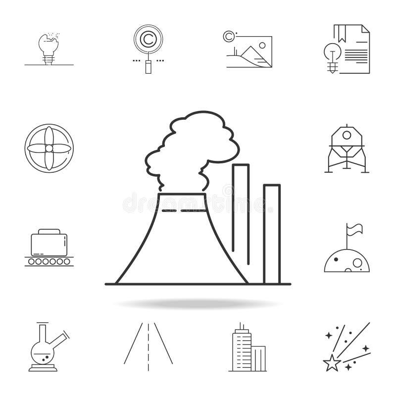 thermisch elektrische centralepictogram Gedetailleerde reeks Webpictogrammen en tekens Premie grafisch ontwerp Één van de inzamel stock illustratie