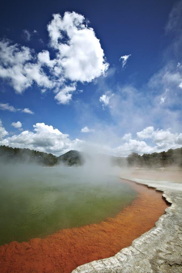 Thermisch meer in rotoroa, Nieuw Zeeland royalty-vrije stock foto