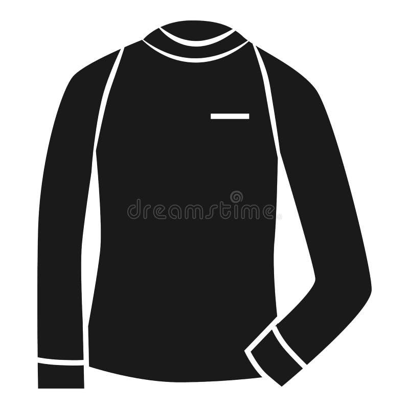 Thermisch sweaterpictogram, eenvoudige stijl stock illustratie