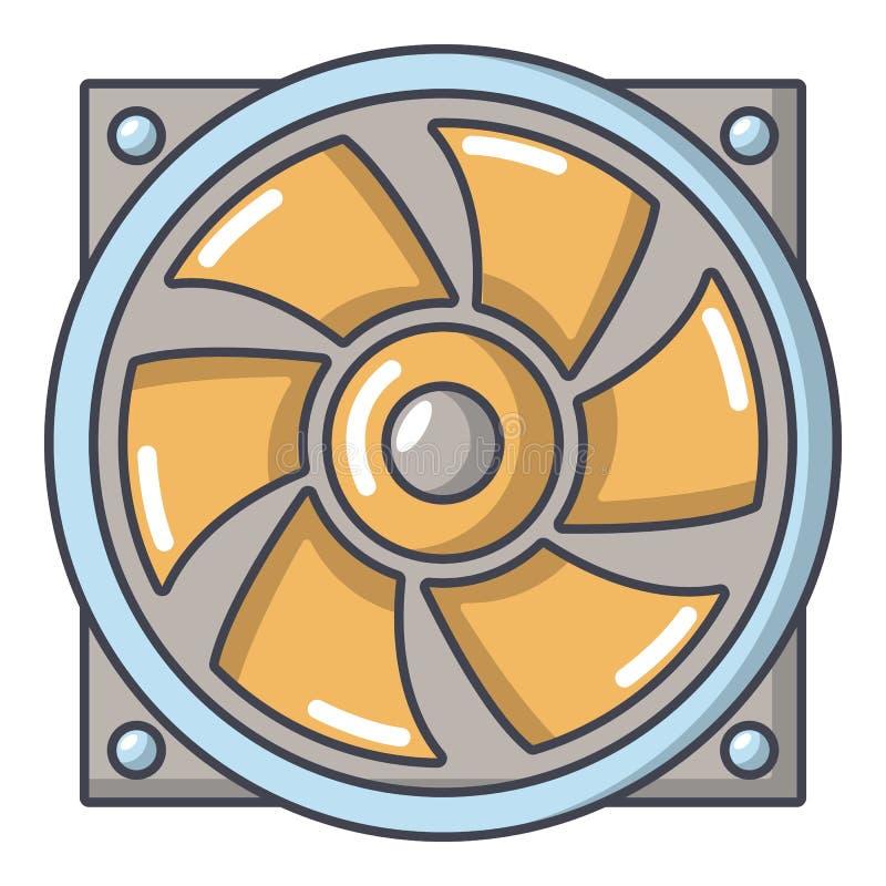 Thermisch ventilatorpictogram, beeldverhaalstijl royalty-vrije illustratie