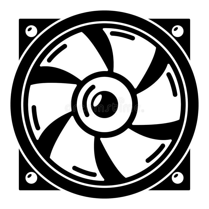 Thermisch ventilatorpictogram, eenvoudige stijl vector illustratie