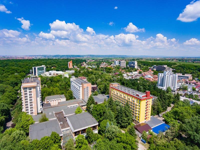 Thermische Bäder Baile Felix nimmt nahe Oradea Rumänien Zuflucht stockbilder