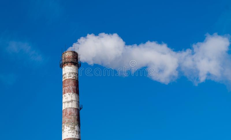 Thermo-electric power station in Chisinau, Moldova royalty free stock images