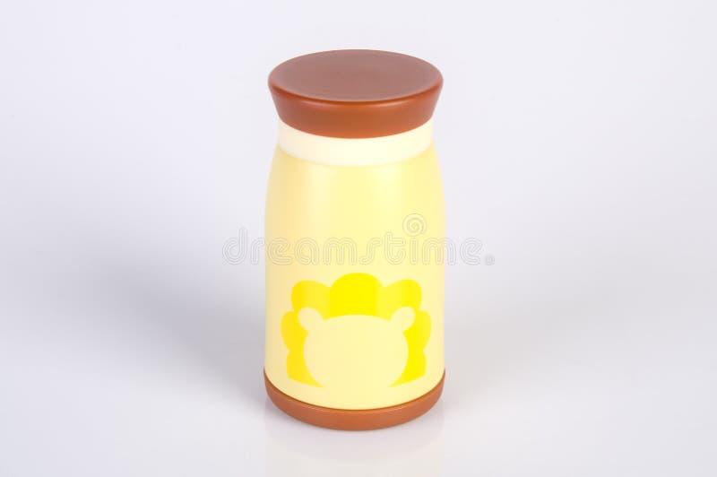 Thermo eller Thermo flaska på en bakgrund arkivbild