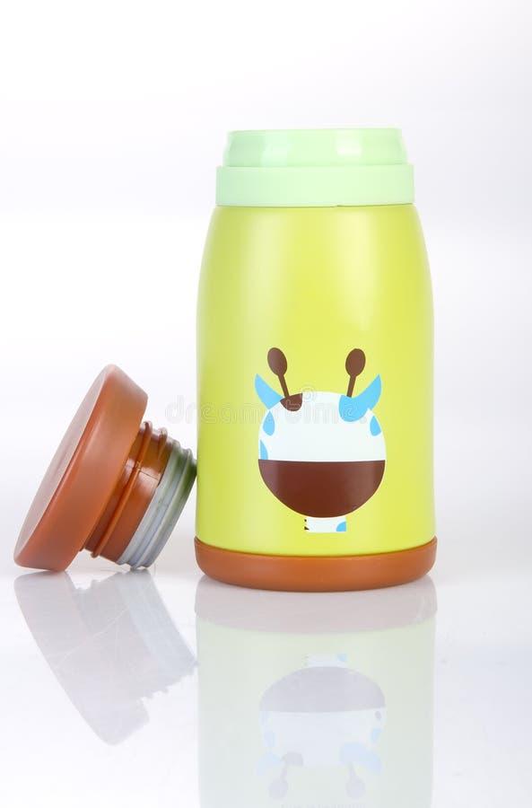 Thermo eller Thermo flaska på en bakgrund royaltyfri foto
