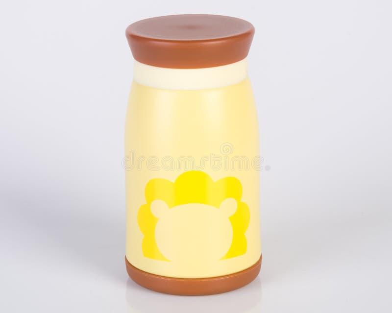 Thermo eller Thermo flaska på en bakgrund royaltyfria foton