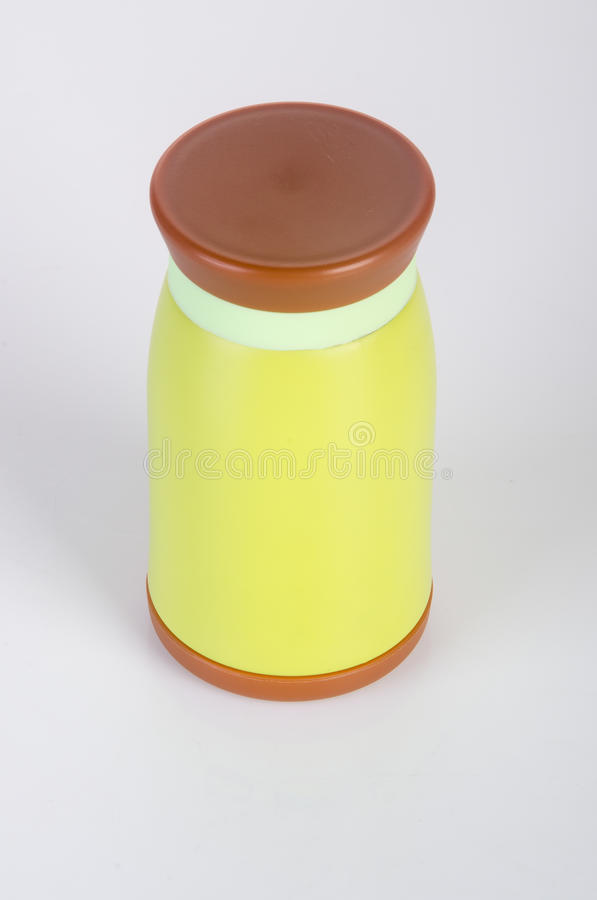 Thermo eller Thermo flaska på en bakgrund royaltyfri fotografi