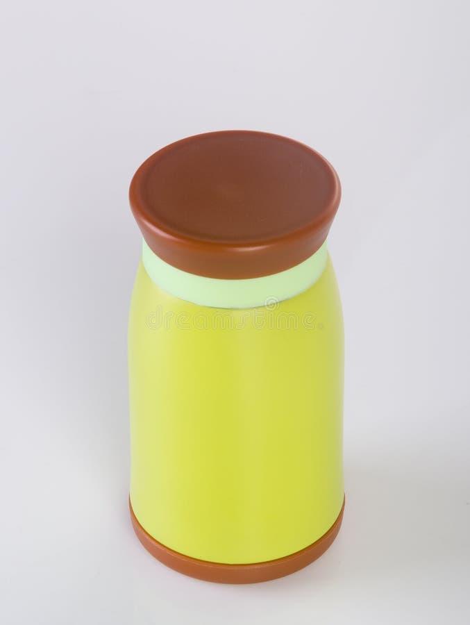 Thermo eller Thermo flaska på en bakgrund arkivfoton
