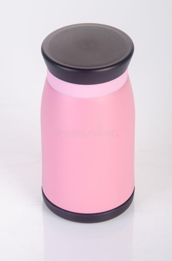Thermo eller Thermo flaska på en bakgrund fotografering för bildbyråer