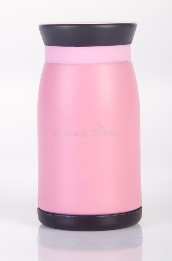 Thermo eller Thermo flaska på en bakgrund royaltyfria bilder