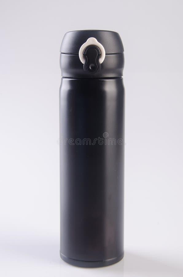Thermo eller Thermo flaska på en bakgrund royaltyfri bild