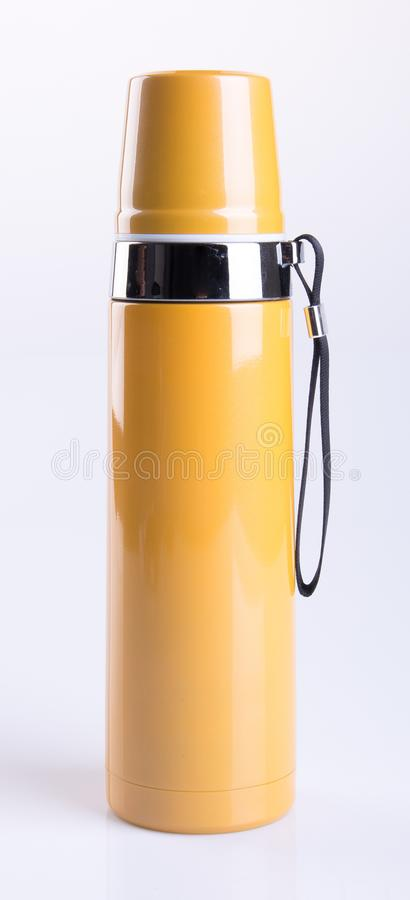 Thermo or Thermo flask on a background. stock photography