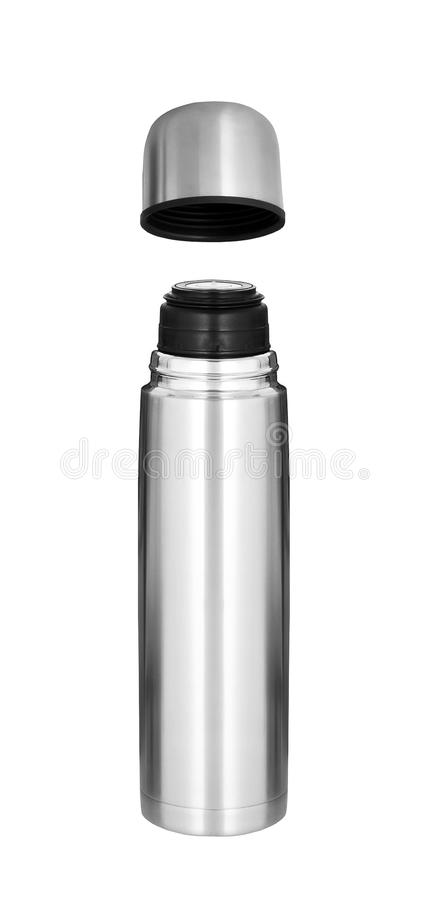 Thermo flask isolated. On white background royalty free stock photos