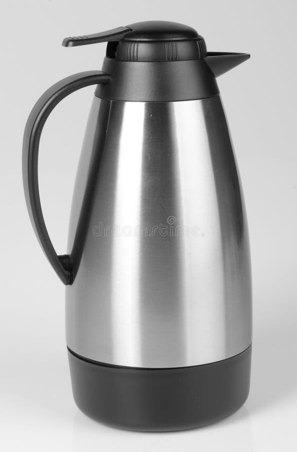 Thermo, Thermo Flasche auf Hintergrund lizenzfreies stockfoto