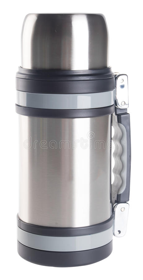 Thermo, Thermo flask on background. Thermo flask on the background royalty free stock photos