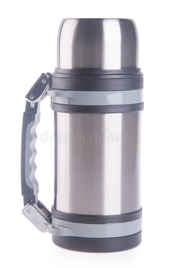 Thermo, Thermo flask on background. Thermo flask on the background stock photo