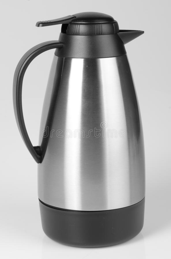 Thermo, Thermo flask on background. royalty free stock photo