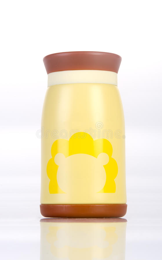 Thermo or Thermo flask on a background. Thermo or Thermo flask on a background stock photography