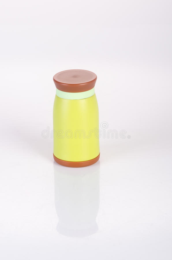 Thermo or Thermo flask on a background. Thermo or Thermo flask on a background royalty free stock photo