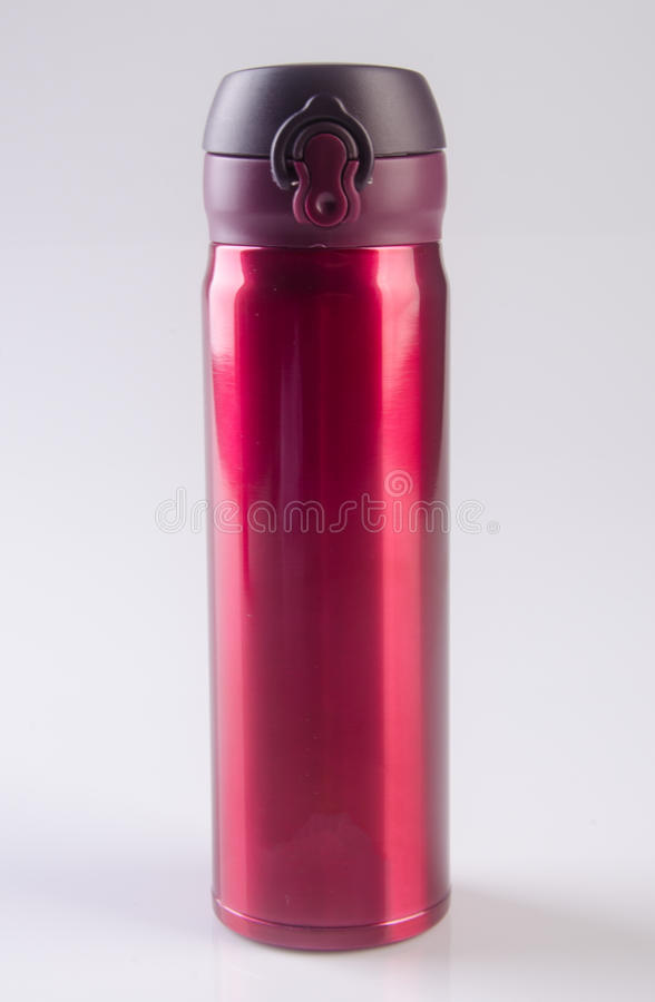 Thermo or Thermo flask on a background. Thermo or Thermo flask on a background royalty free stock photography
