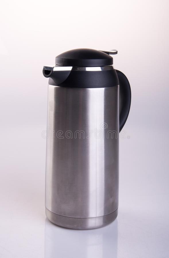 Thermo or Thermo flask on a background. stock images