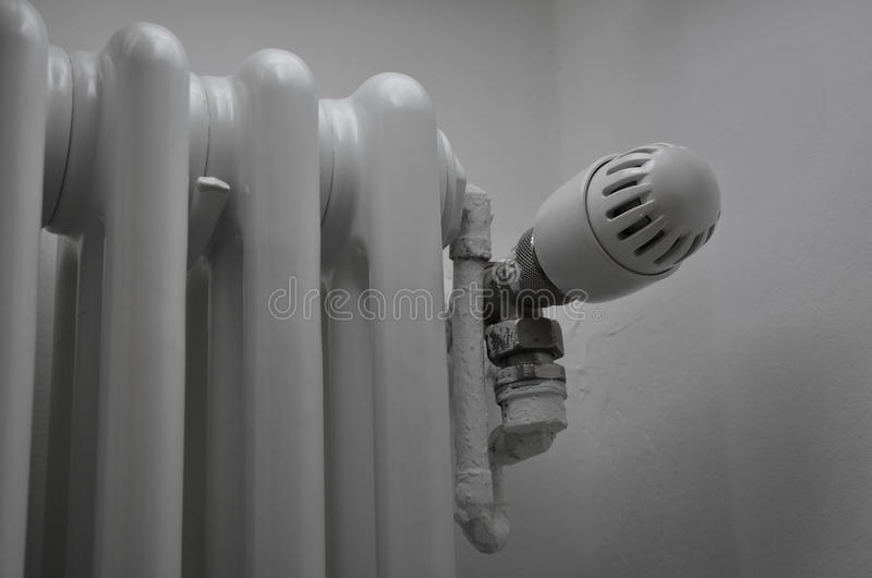 Thermo valve in heater. To control temperature royalty free stock images