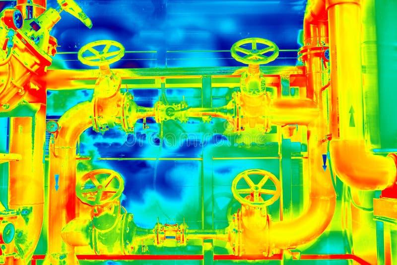 Thermogram infravermelho colorido imagens de stock