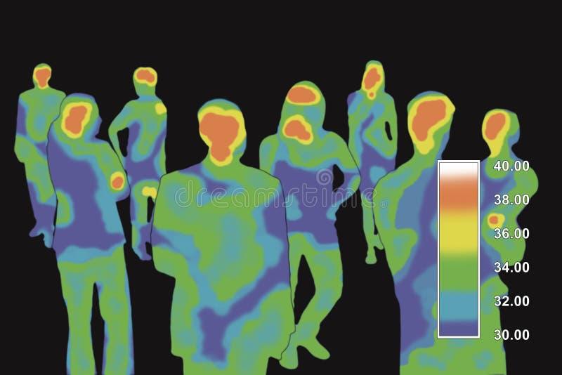 thermographie illustration de vecteur