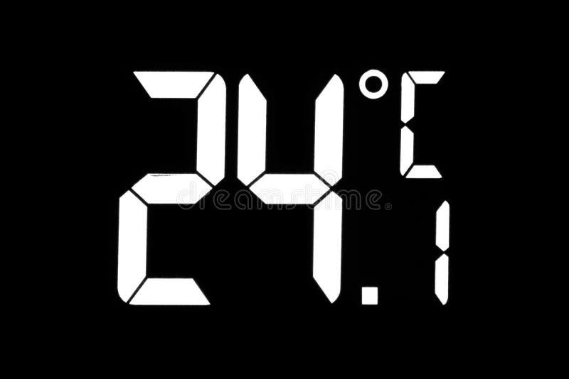 Thermomètre électronique de température de l'air image libre de droits