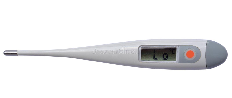 Thermomètre électronique médical images libres de droits
