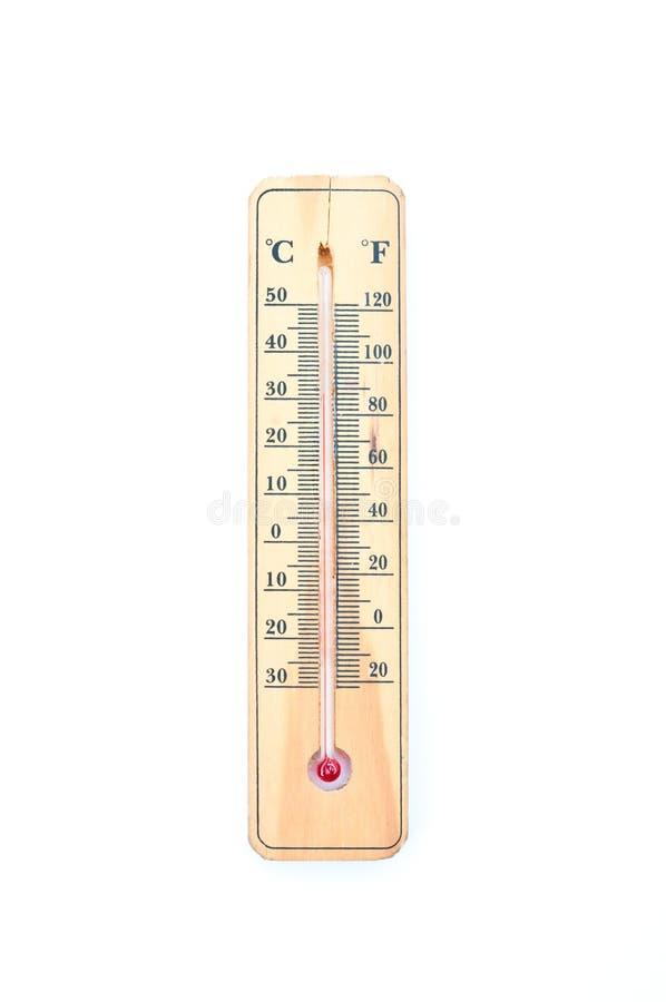 Thermomètre Celsius d'alcool de ménage image stock