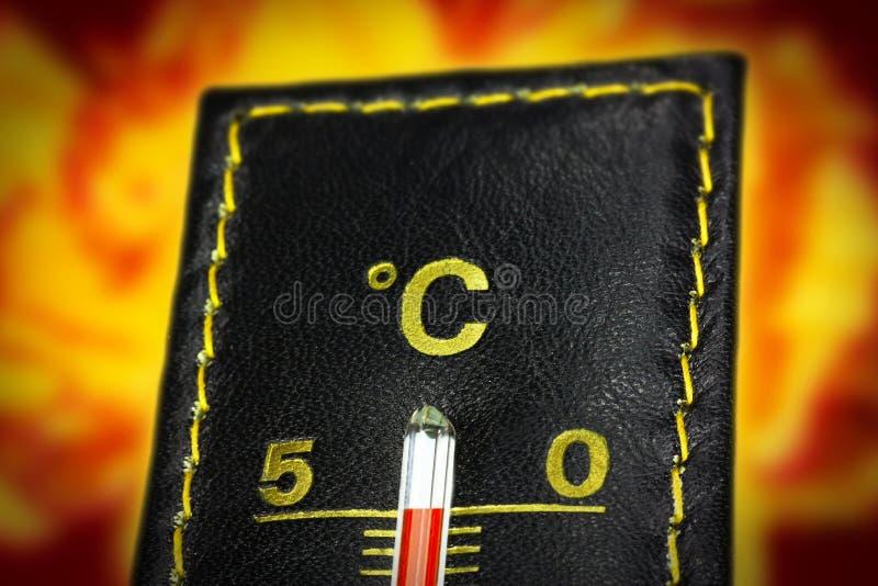 Thermomètre cinquante Celsius image libre de droits