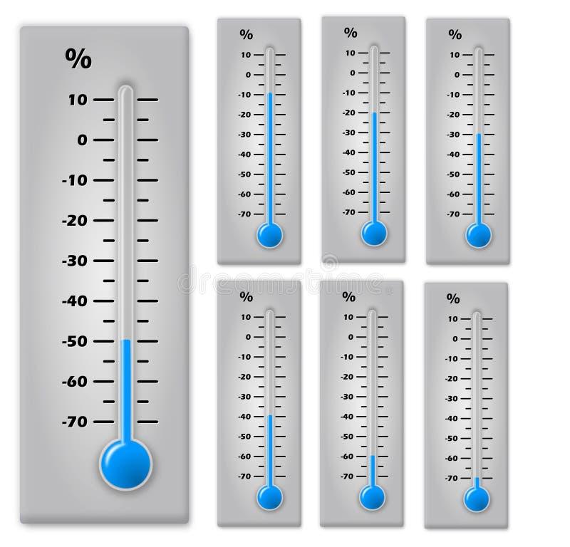 Thermomètre d'escompte images libres de droits