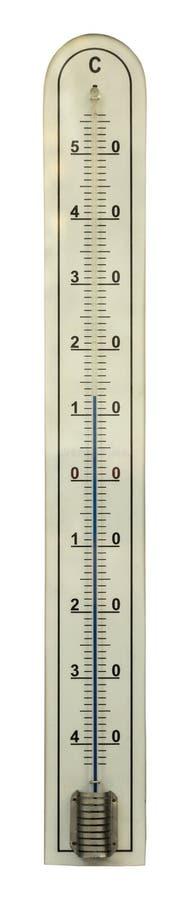 Thermomètre d'isolement avec le mercure dans le tube de verre images libres de droits