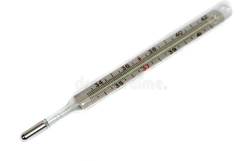 Thermomètre d'isolement sur le fond blanc photo stock