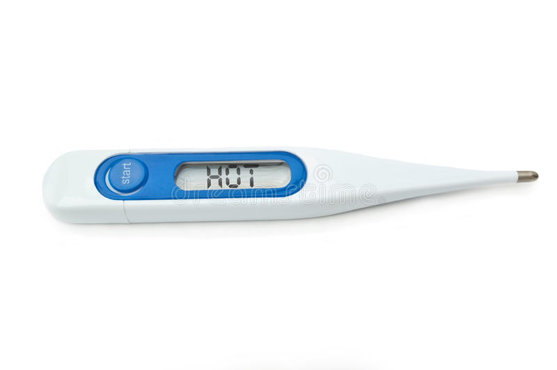 Thermomètre de Digitals images libres de droits