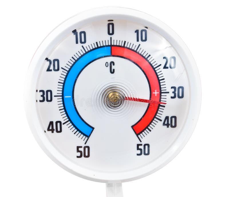 Thermomètre extérieur photographie stock