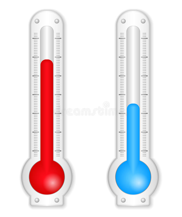 Thermomètres illustration libre de droits