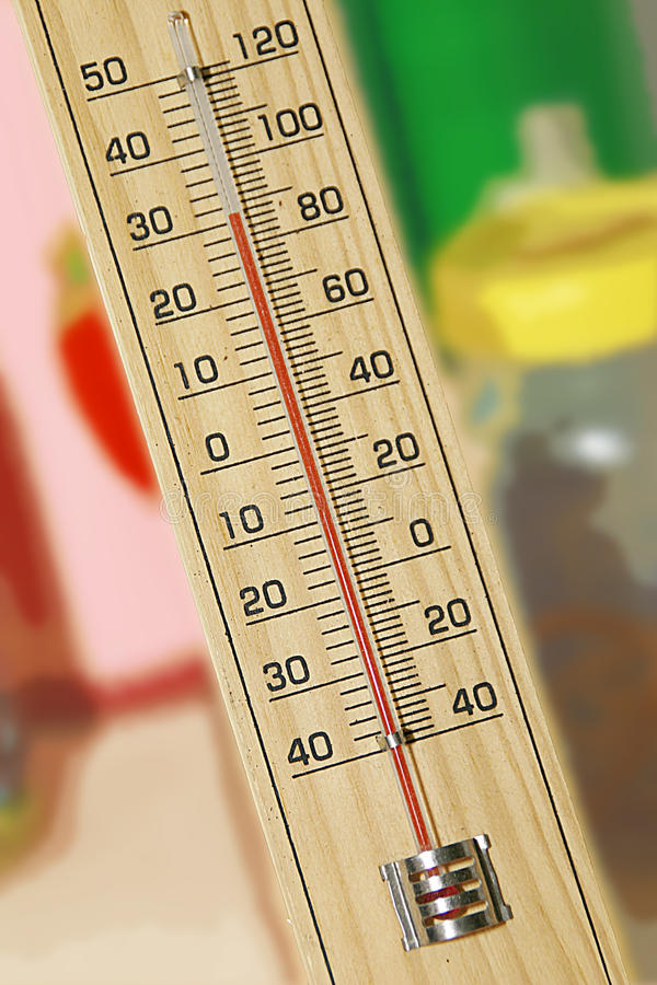 Thermometer stock afbeelding