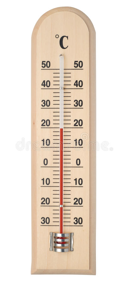 Thermometer. Isolated on white with paths stock image