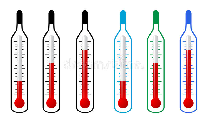 Thermometer royalty-vrije illustratie