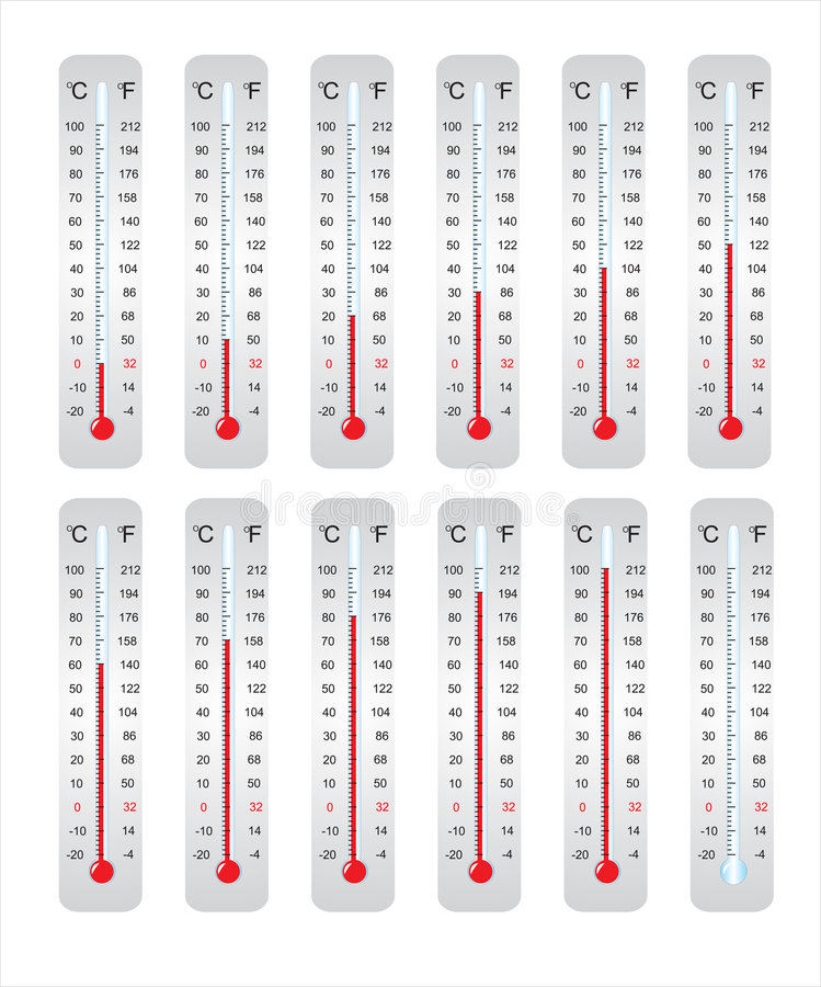 Download Thermometer stock illustration. Illustration of climate - 6426206