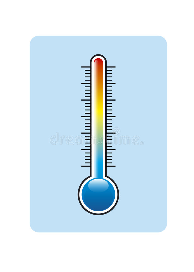Thermometer royalty free illustration