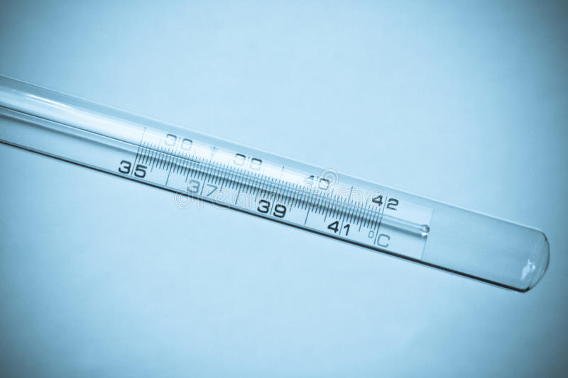 Download Thermometer In Blue Tint Stock Images - Image: 14908034