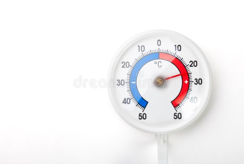 Thermometer Shows Comfort Room Temp Plus 24 Celsius Degree On Wh ...