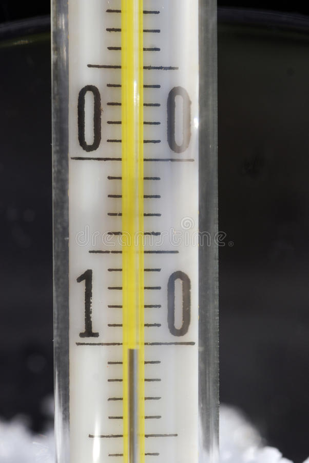 Thermometer in cold royalty free stock image