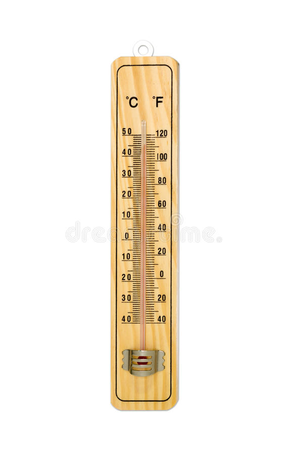 Thermometer 45 Degrees. Very hot day. Thermometer 45 Degrees isolated on white background. Very hot day. High temperatures in degrees Celsius and farenheit stock photos