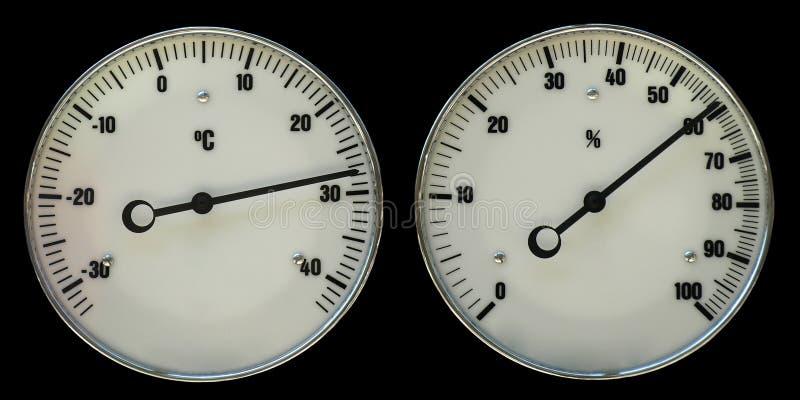 Thermometer en hydrometer stock foto's