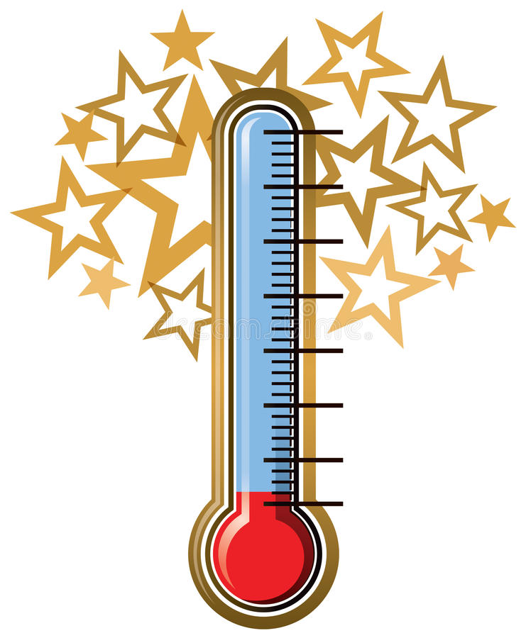 thermometer goal stock vector illustration of drawing 41599848 rh dreamstime com  fundraising thermometer clip art free